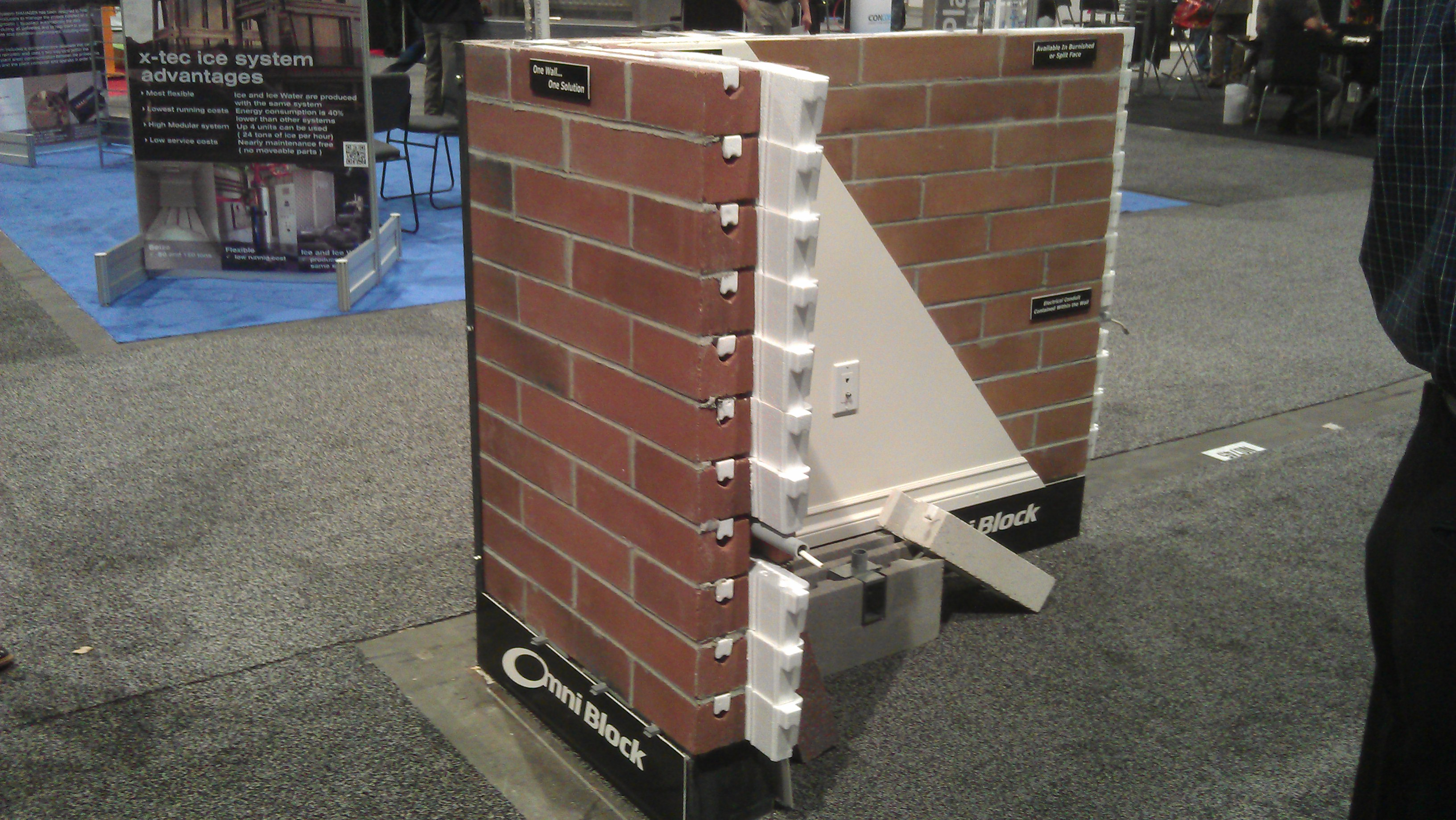 Exhibiting at the builders show in las vegas omniblock for Brick house construction