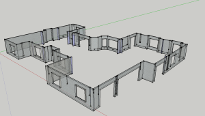 Sketchup Garage View