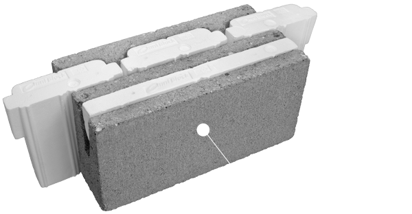 Home omniblock Insulated block construction