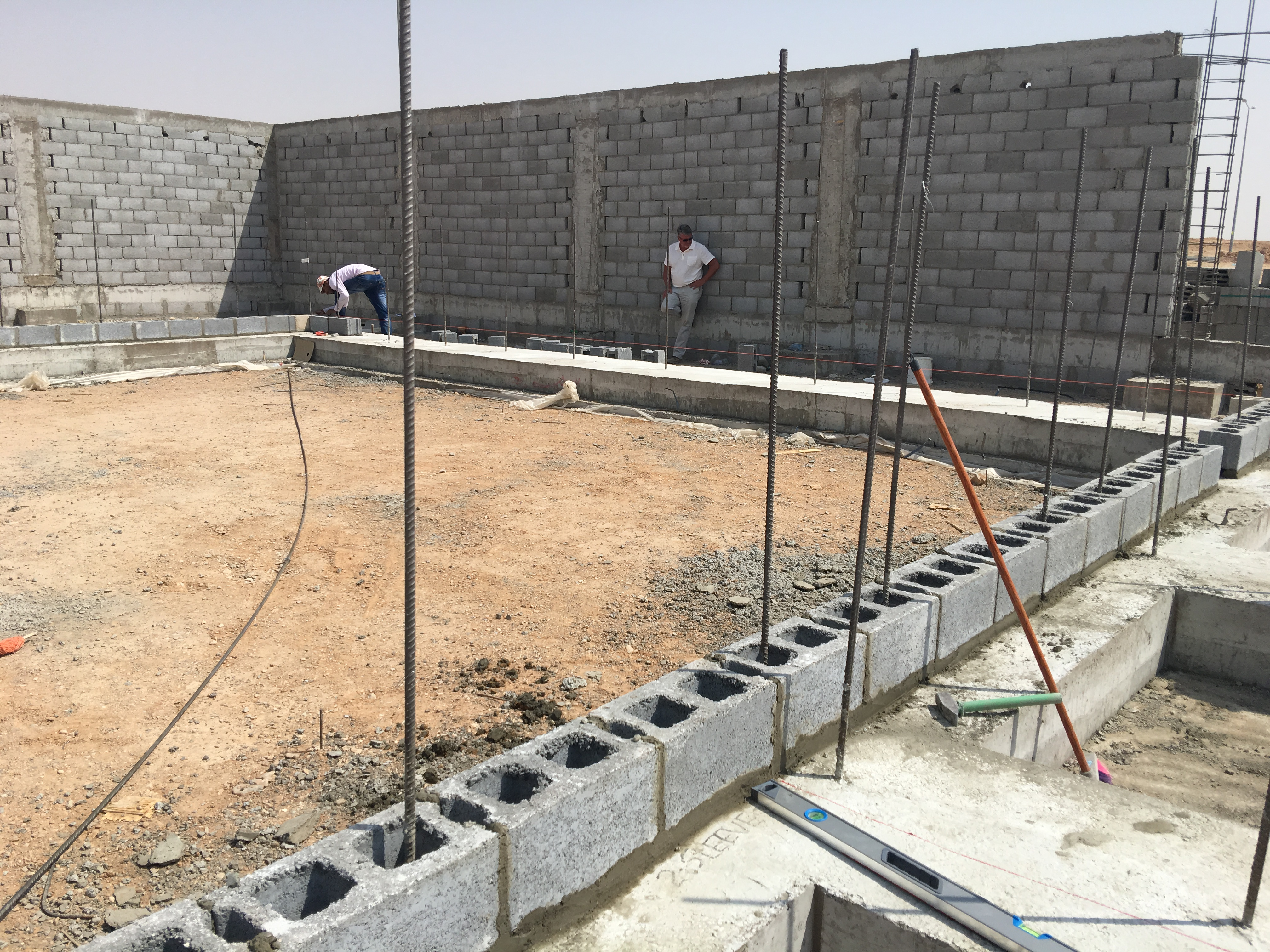 Omni Block In Riyadh Saudi Arabia Omniblock Electrical Wiring Cinder Walls The Fourth And Final Wall Background Required 26 Which Was Expertly Laid Just 32 Minutes