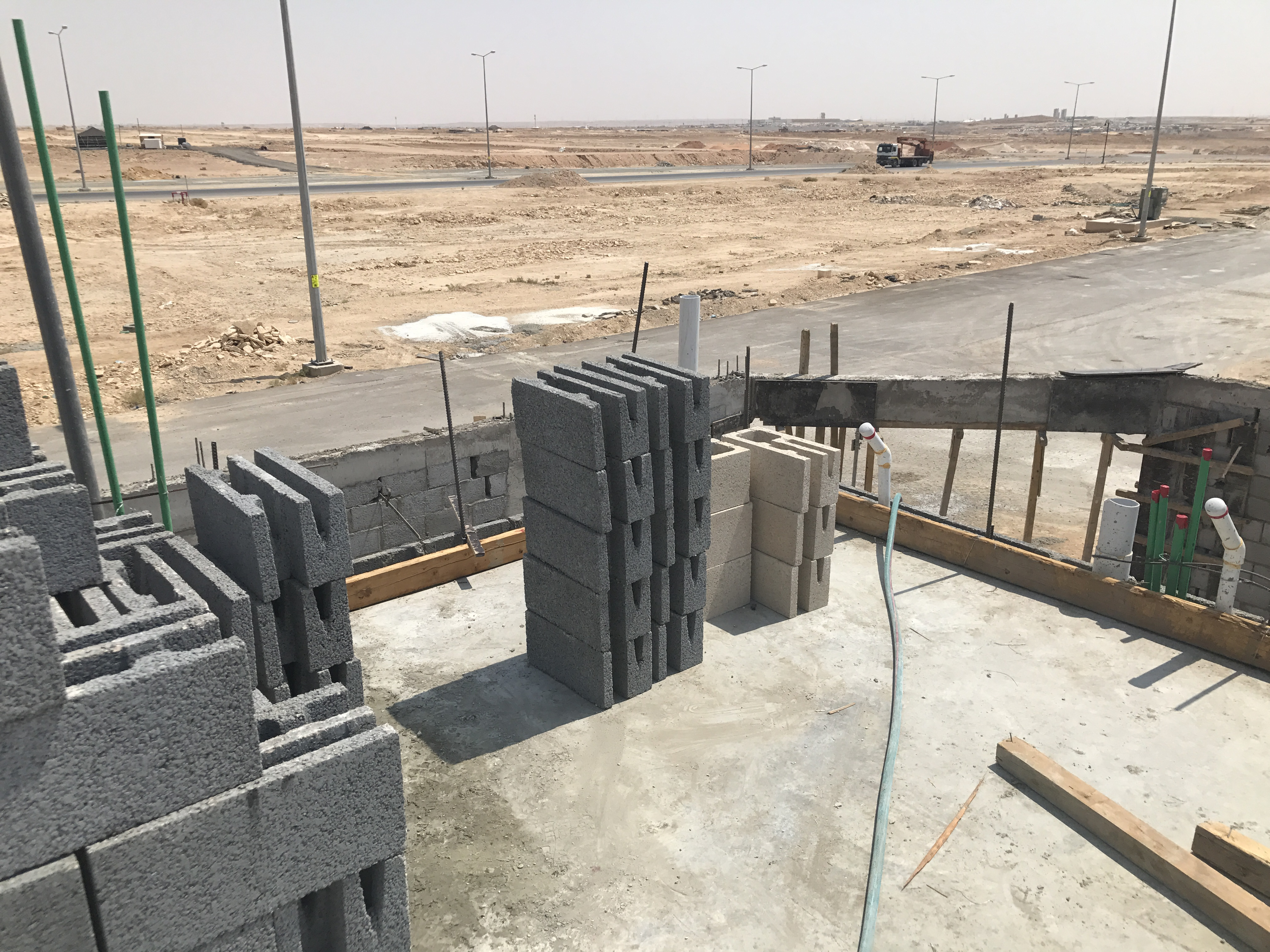 Beautiful The Corner Blocks Are Also Stocked So That The Mason Is Not Delayed In Any  Way. Production Is Key When It Comes To Laying Block So Proper Quantities,  ...